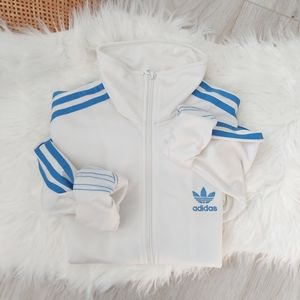 Adidas White Blue Original Firebird Track Jacket